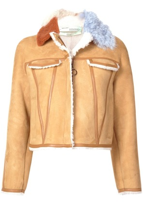 Off-White colour contrast trimmed jacket - Neutrals