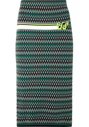 Prada - Intarsia-knit Skirt - Green