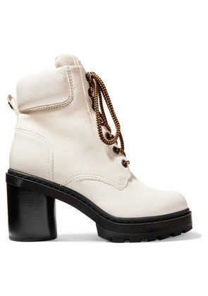 Marc Jacobs - Crosby Textured-leather Ankle Boots - White