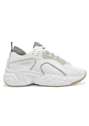 Acne Studios - Manhattan Leather, Suede And Mesh Sneakers - White