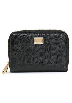 Dolce & Gabbana Woman Textured-leather Wallet Black Size -