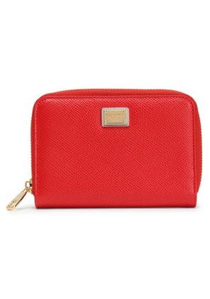 Dolce & Gabbana Woman Textured-leather Wallet Red Size -