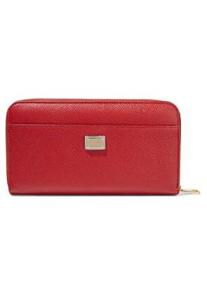 Dolce & Gabbana Woman Appliquéd Textured-leather Wallet Red Size -