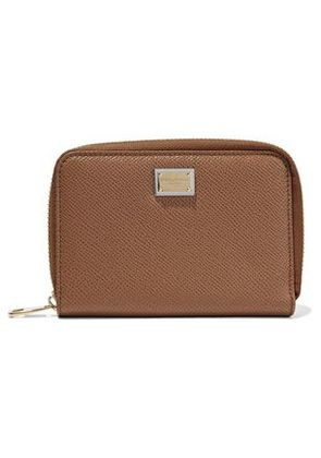 Dolce & Gabbana Woman Textured-leather Wallet Light Brown Size -