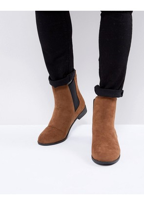 Brave Soul Chelsea Boots In Tan - Tan