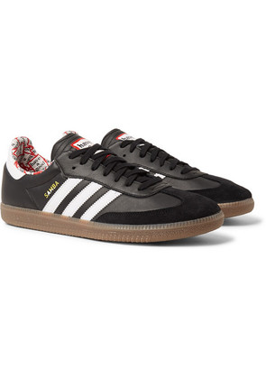 adidas Consortium - + Have A Good Time Samba Suede-trimmed Leather Sneakers - Black