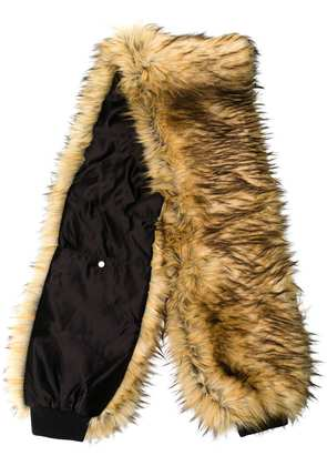 Filles A Papa synthetic fur scarf - Neutrals