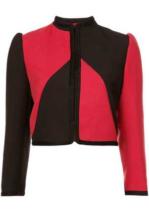 Gucci Guccy embellished cropped jacket - Red