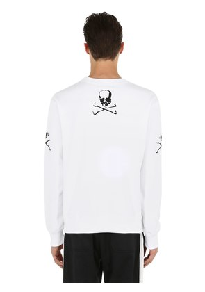 SKULL EMBROIDERED COTTON SWEATSHIRT