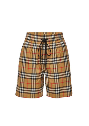 Burberry Dovenmoore Checked Cotton Shorts