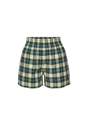 Burberry Dovemoore Checked Cotton Shorts
