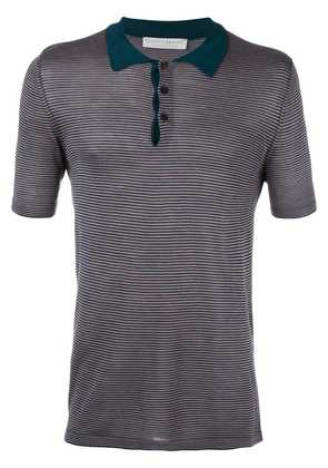 Gieves & Hawkes striped polo shirt - Brown