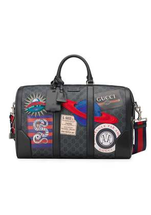 Gucci Night Courrier soft GG Supreme carry-on duffle - Black