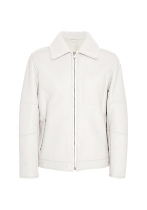 EIDOS Shearling-Lined Bomber Jacket