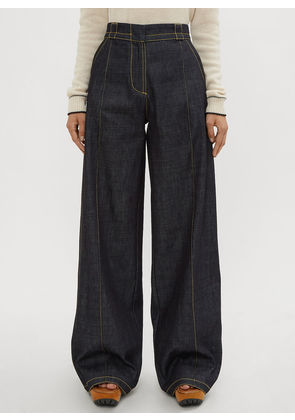 Marni Flared Denim Pants in Blue size IT - 36