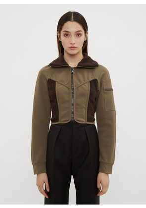 Atlein Cropped Jersey Wetsuit Jacket in Brown size FR - 38