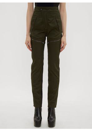 Atlein Zipped Panel Combat Pants in Green size FR - 38