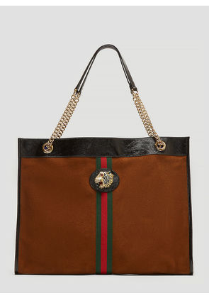 Gucci Tiger Head Suede Tote Bag in Brown size One Size