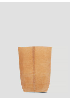 Funagata 012 Square Sack Waxed Canvas Bag in Brown size One Size