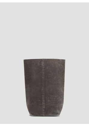 Funagata 012 Square Sack Waxed Canvas Bag in Grey size One Size