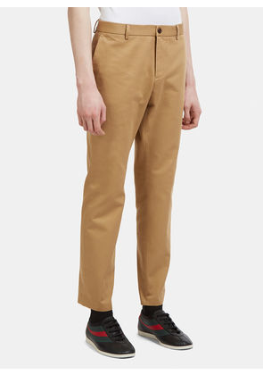 Gucci Cotton Drill Chino Pants in Beige size IT - 46