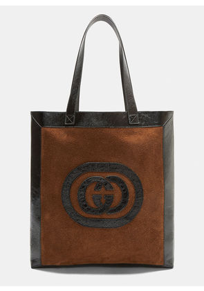Gucci GG Suede Tote Bag in Brown size One Size
