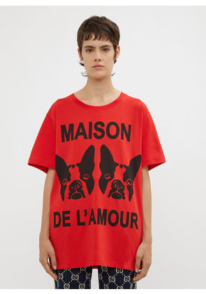 Gucci Oversized Bosco and Orso T-Shirt in Red size S