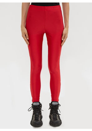 Gucci Logo Leggings in Red size S