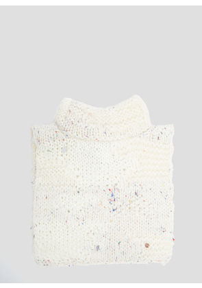 Flapper Adele Knit Collar in White size One Size