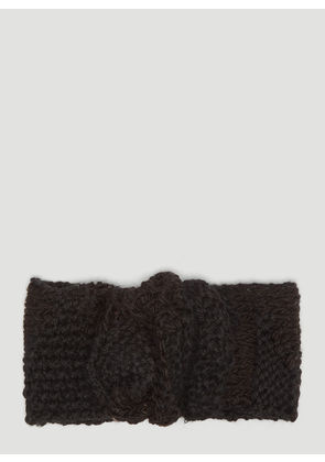 Flapper Alfa Knit Headband in Black size One Size