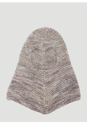 Flapper Golia Knit Hood in Silver size One Size
