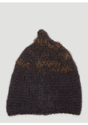 Flapper Dada Knit Beanie Hat in Grey size One Size