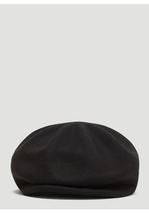 Flapper Candela Formed Peak Hat in Black size M - L