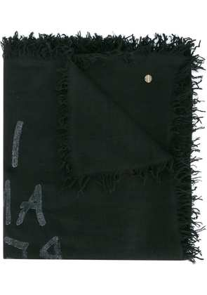 Ann Demeulemeester I am red with love scarf - Black