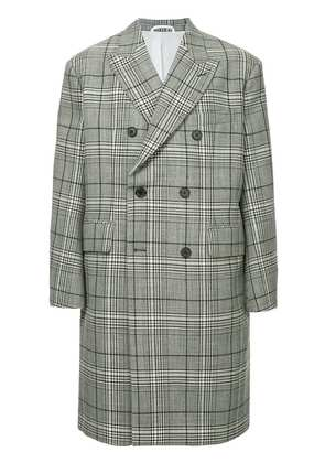 Calvin Klein 205W39nyc checked double-breasted coat - Black