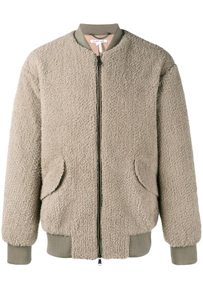 Helmut Lang shearling jacket - Grey