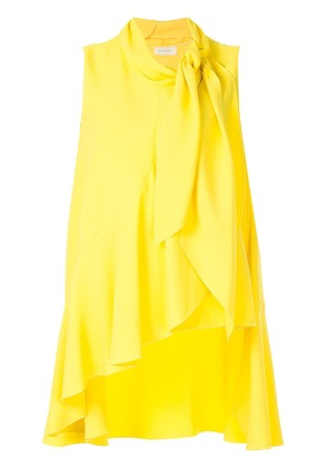 Delpozo asymmetric vest top - Yellow