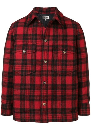 Isabel Marant check printed jacket - Red