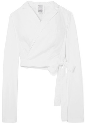 Rosie Assoulin - Cropped Cotton-blend Wrap Blazer - White