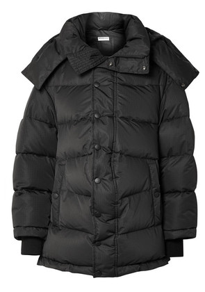 Balenciaga - Swing Oversized Embroidered Quilted Shell Down Jacket - Black