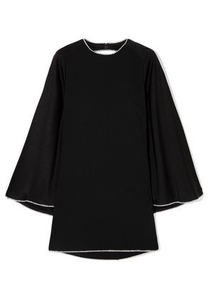 Sonia Rykiel - Crystal-embellished Open-back Satin Mini Dress - Black