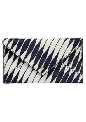 Tory Burch Woman Printed Calf Hair Wallet Off-white Size -