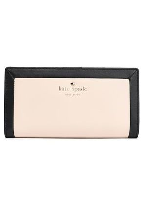 Kate Spade New York Woman Two-tone Leather Continental Wallet Blush Size -