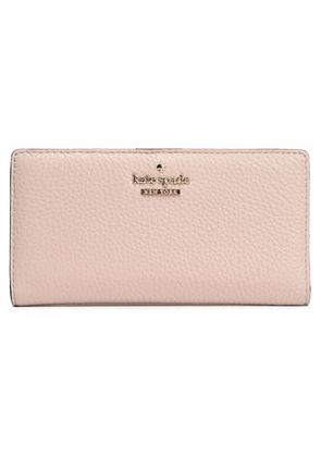 Kate Spade New York Woman Textured-leather Continental Wallet Pastel Pink Size -
