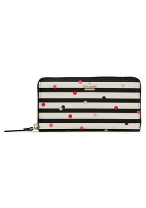 Kate Spade New York Woman Printed Faux Textured-leather Continental Wallet Off-white Size -