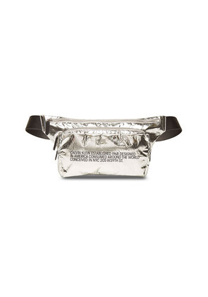 CALVIN KLEIN 205W39NYC Metallic Fanny Pack with Leather