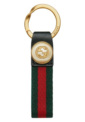 Gucci Nylon Web key ring - Green