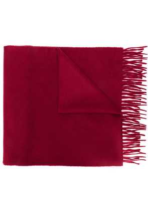 Begg & Co fringed edge scarf - Red