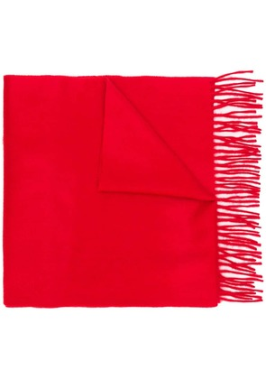 Begg & Co classic cashmere fringed scarf - Red