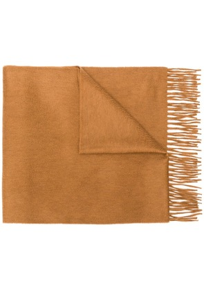 Begg & Co fringed edge scarf - Brown